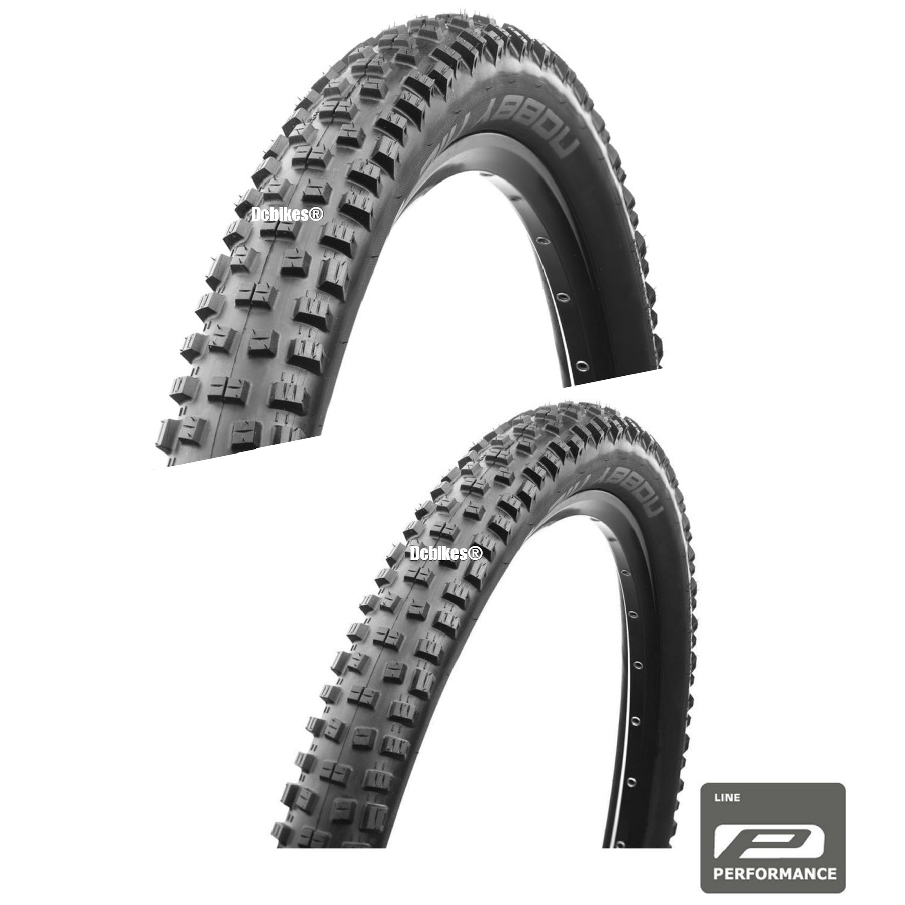 """2 Bike Tyres New Packaged Pair Schwalbe Nobby Nic Addix Folding 29 x 2.25"""""""