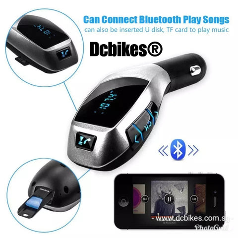 X5 Handsfree Bluetooth Spotify YouTube Music To Fm Transmitter Radio MP3 Player USB Car Kit
