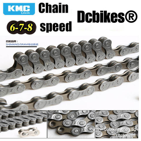 KMC 6/7/8 MTB Road Z7 Silver Chain 114 Links