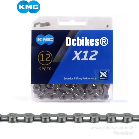 KMC 12 Speed Silver X12 MTB Road Chain + Missing Link 126
