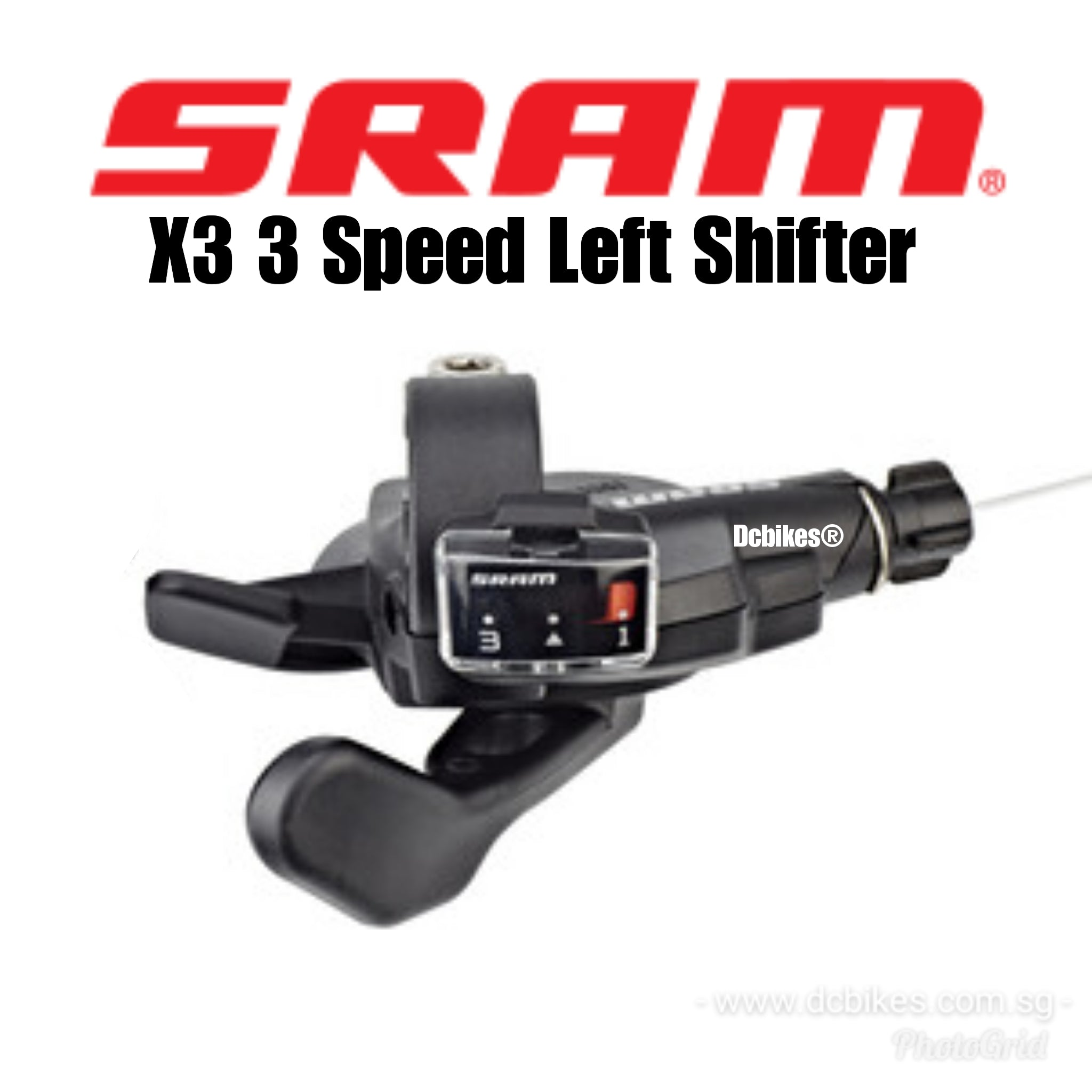 SRAM X3 Bicycle Trigger Shifter Set 3 x 7 Speed X.3 Left and Right New with Wire