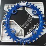 104bcd OVAL Narrow Wide Single Speed Anodized Chain Ring