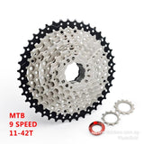 9 speed 11-42T MTB Wide Ratio Cassette