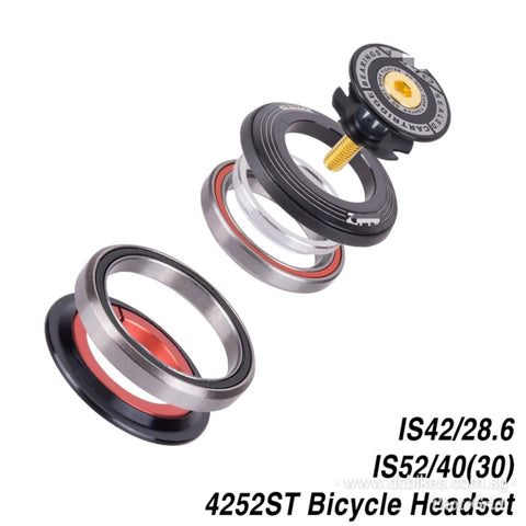 "42mm-52mm Headset + 2 Sealed Bearings CNC Aluminum 1-1/8""-1 1/2"""