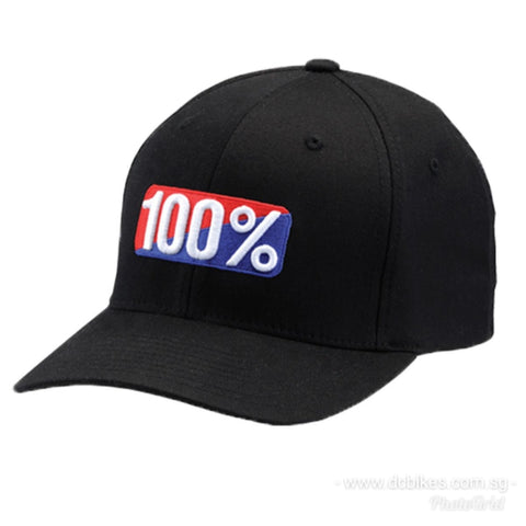 Genuine 100% Black Race FlexFit Baseball Cap