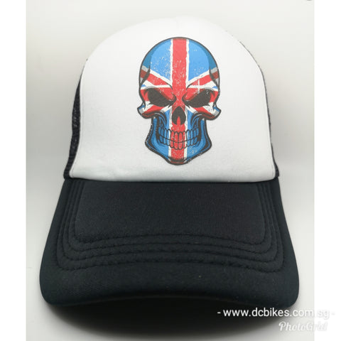 British Skeleton Race Trucker Mesh Baseball Cap