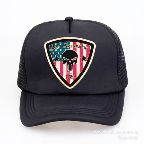 2nd Amendment America Est 1789 Black Trucker Mesh Baseball Cap