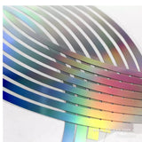 Laser Oil Slick Rainbow Bicycle / Escooter 10''/12'' Inch Rim Sticker Decal