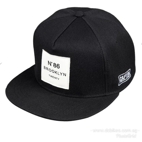 Brooklyn No 86 Black Series Twenty Snapback Stylo Cap Hat