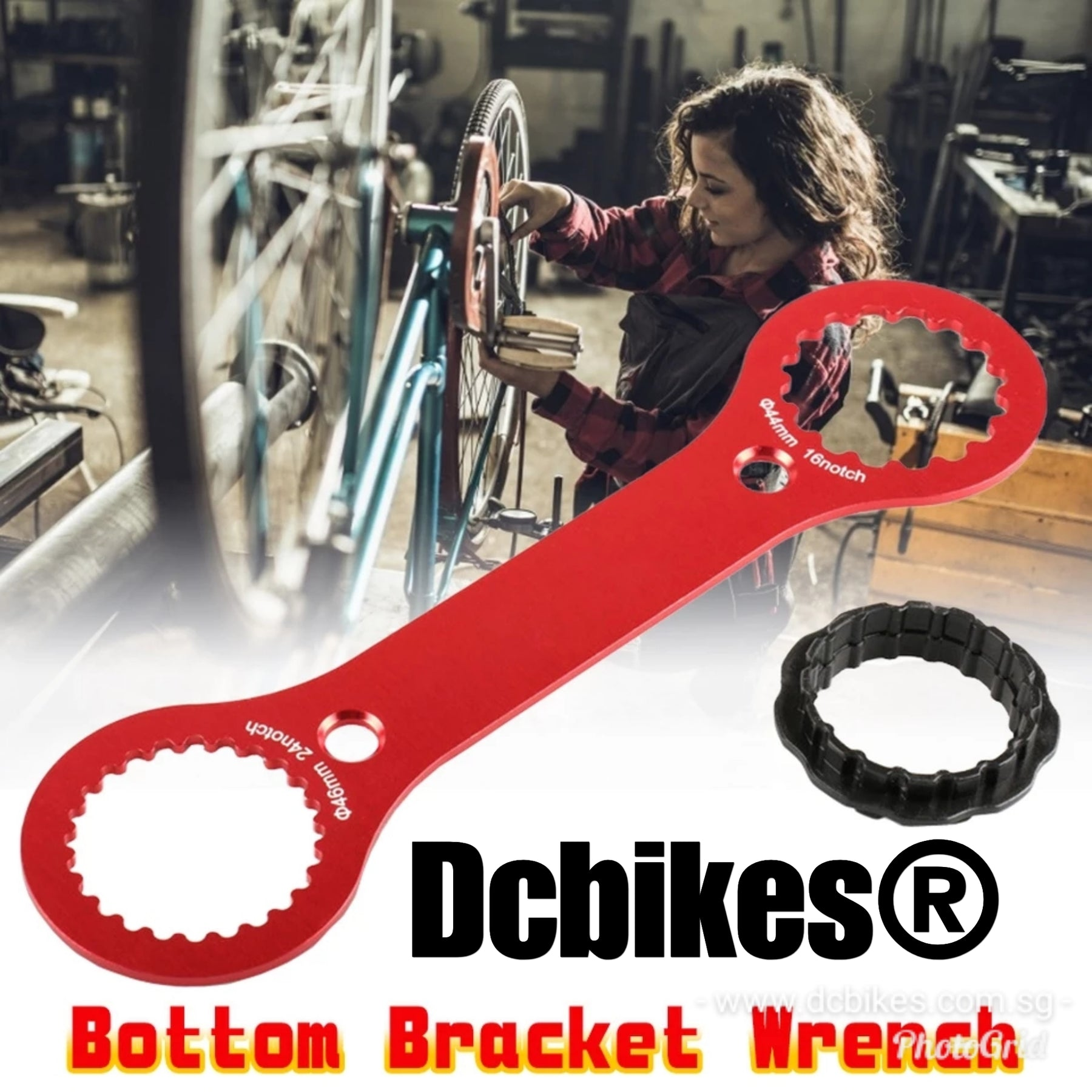 Bike 16 Notch 44mm Bottom Bracket Install Remover Tool Bicycle Wrench Repair NEW
