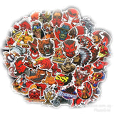 100 pieces Red Devils DIY Colour Random Sticker Bomb Decals