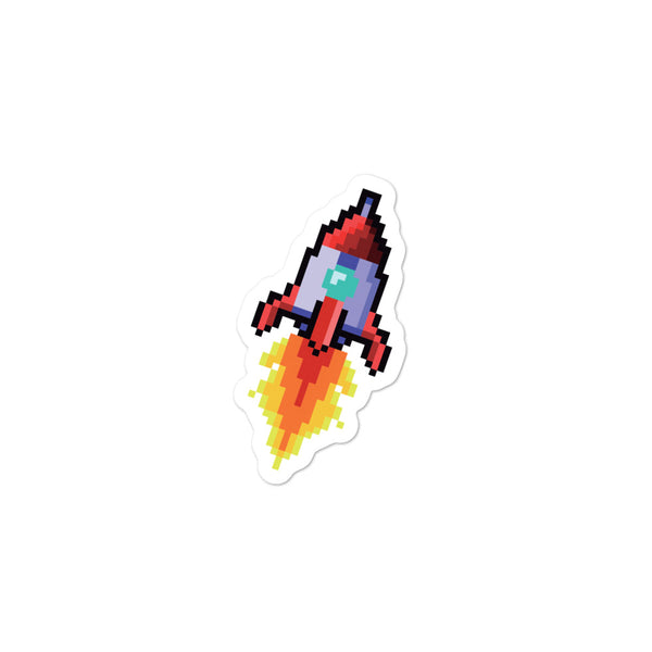 Pixel Rocket Sticker