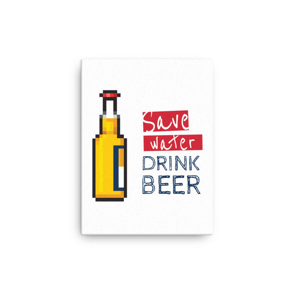 Save water drink beer Canvas