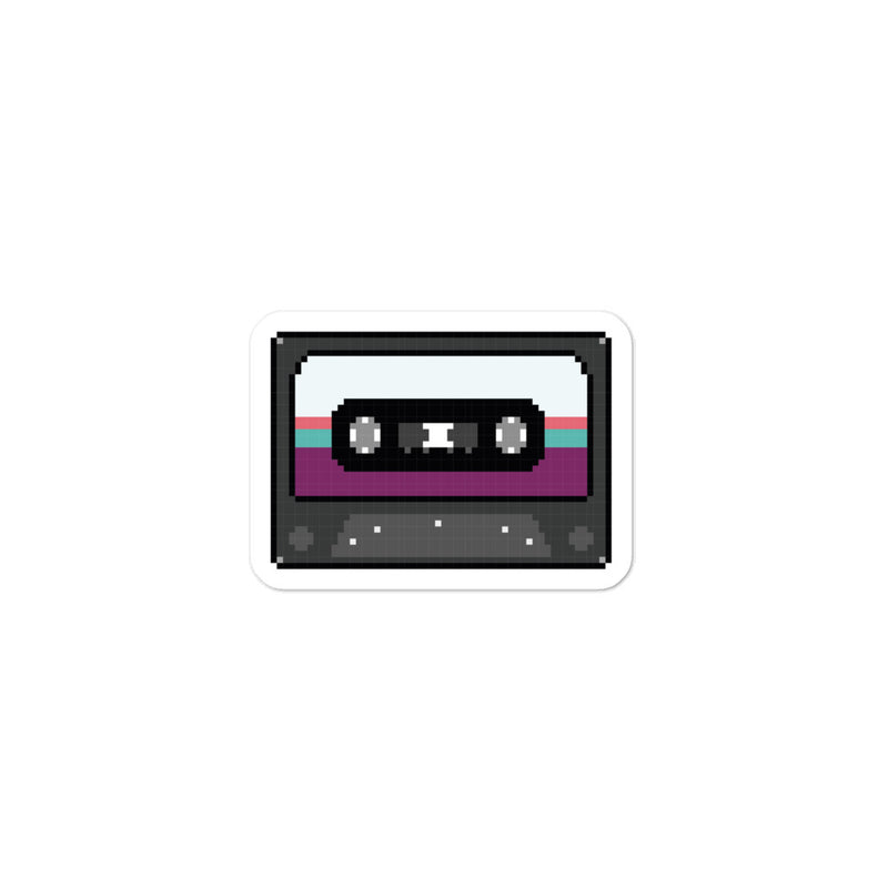CASSETTE PIXEL STICKER