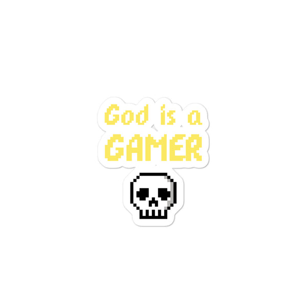 God is a gamer sticker