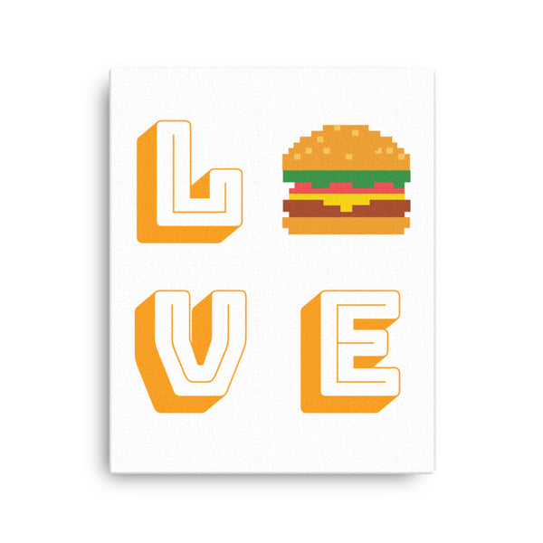 Hamburger love Canvas