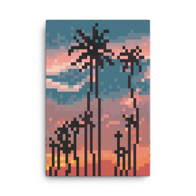 Los Angeles Pixel Canvas Yoka Moka