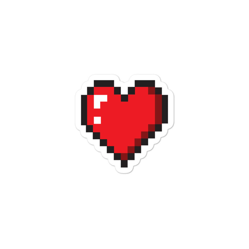 Heart Pixel Sticker