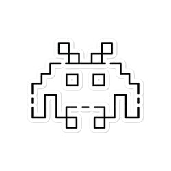 Space Invaders sticker