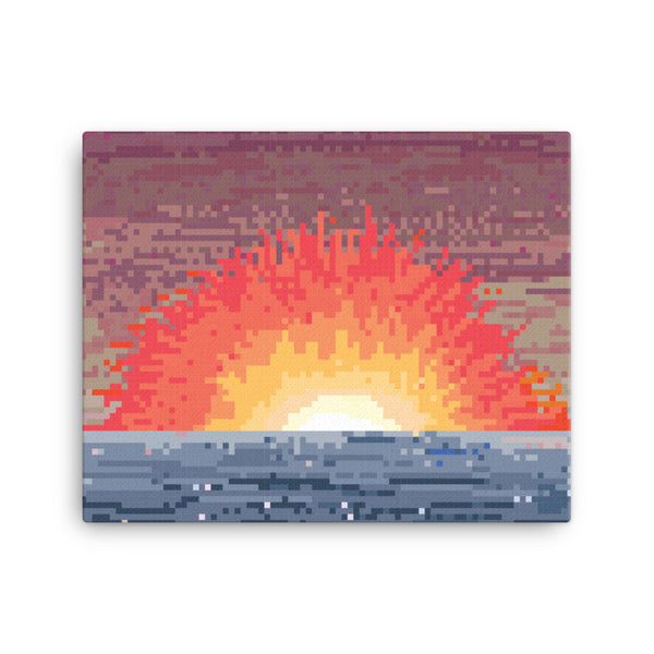 Sunset explode Pixel art Canvas