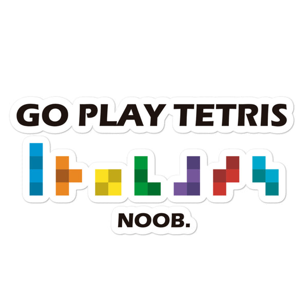 Go Play Tetris sticker
