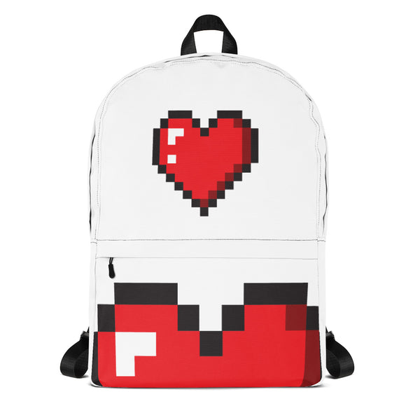 Love heart pixel backpack