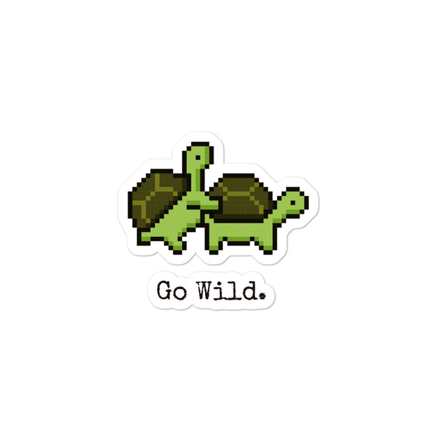 Turtles Go Wild Sticker