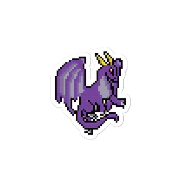 Purple Dragon Pixel Sticker