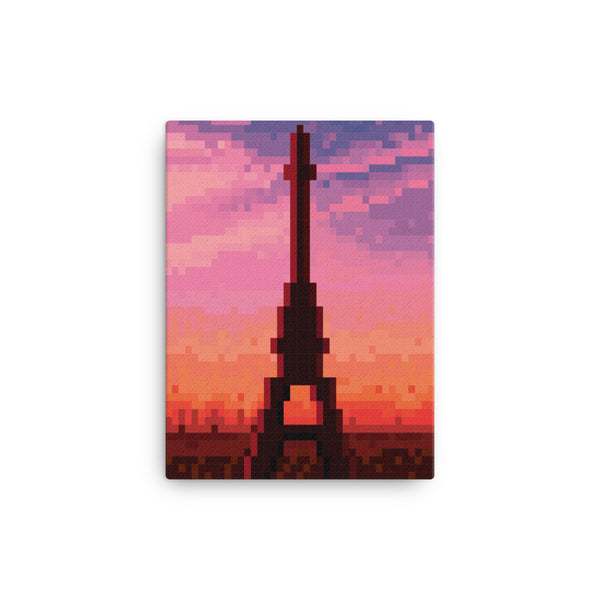 Paris Pixel art Canvas