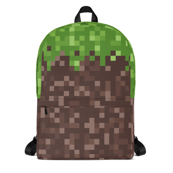 Mud Grass Pixel Backpack