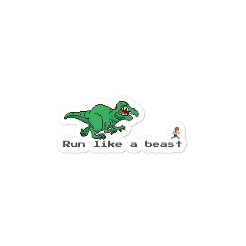 Run like a beast sticker