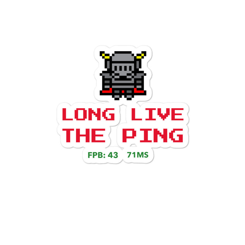 Long live the ping sticker