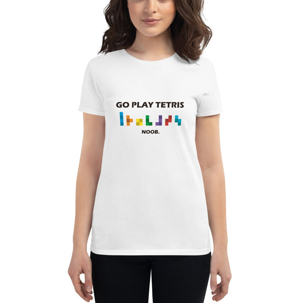 Go play tetris women`s  t-shirt