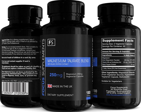 Magnesium Taurate Blend (125mg) Capsules