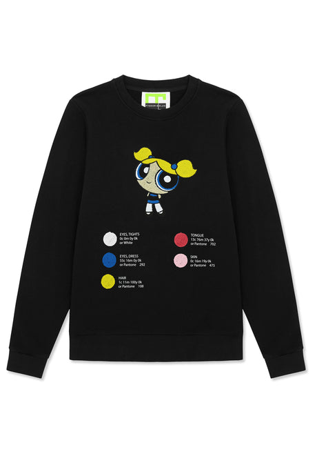 bubbles embroidered sweat