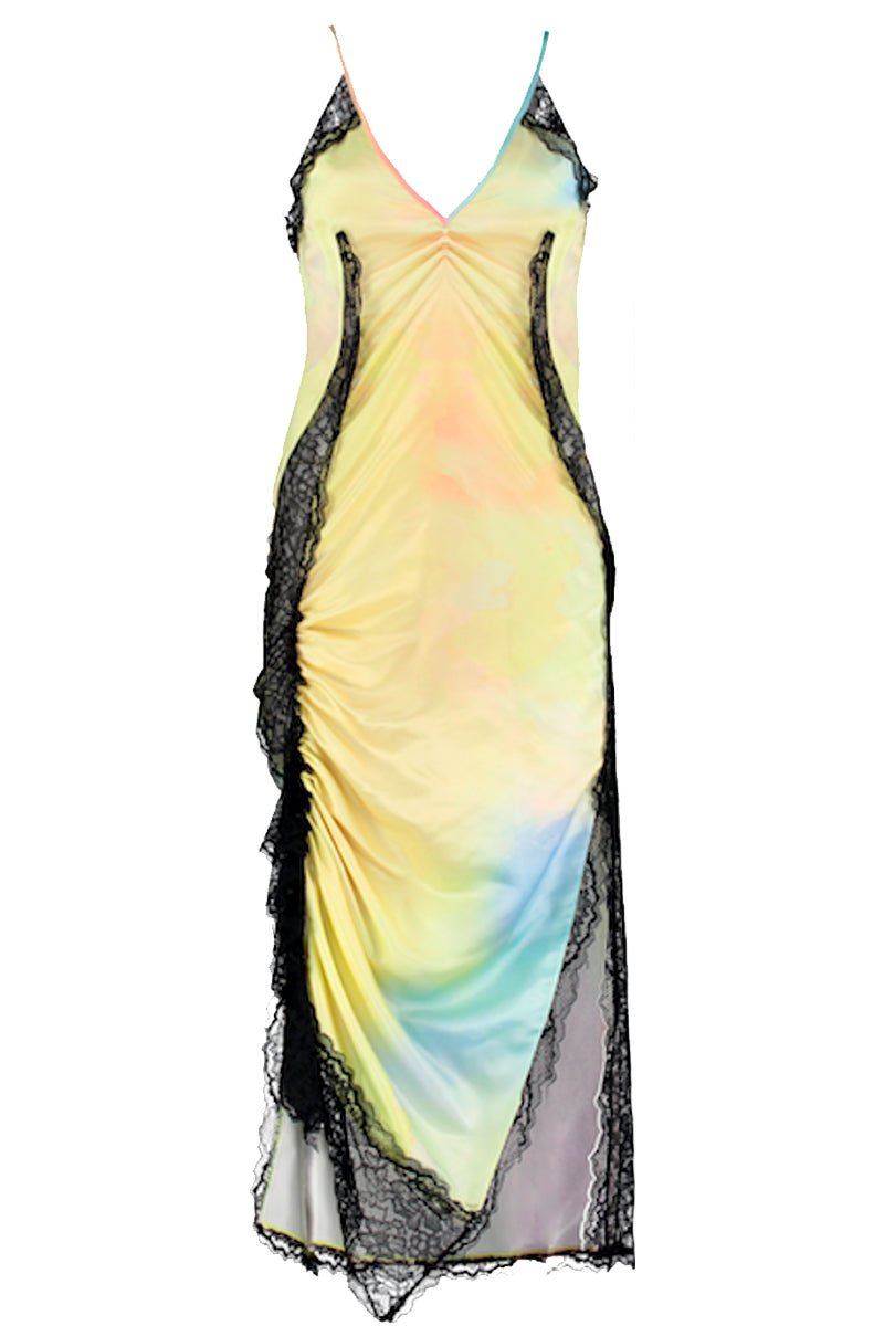 PSYCHEDELIC NEGLIGEE DRESS