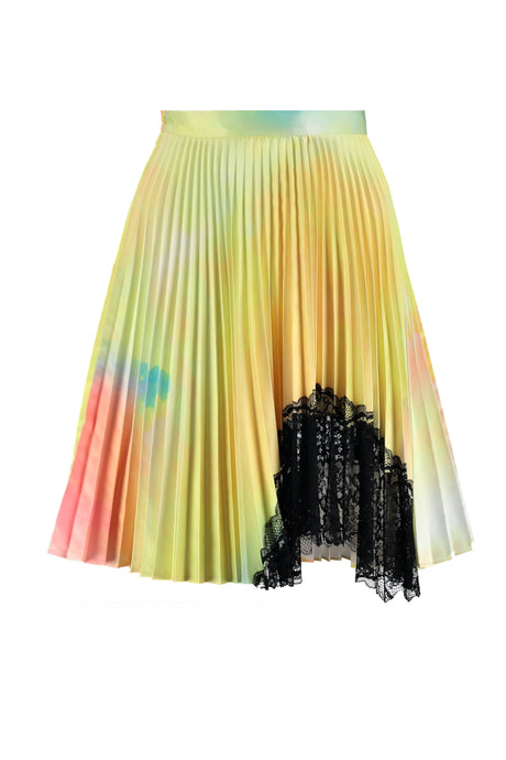 PSYCHEDELIC PLEATED SKIRT