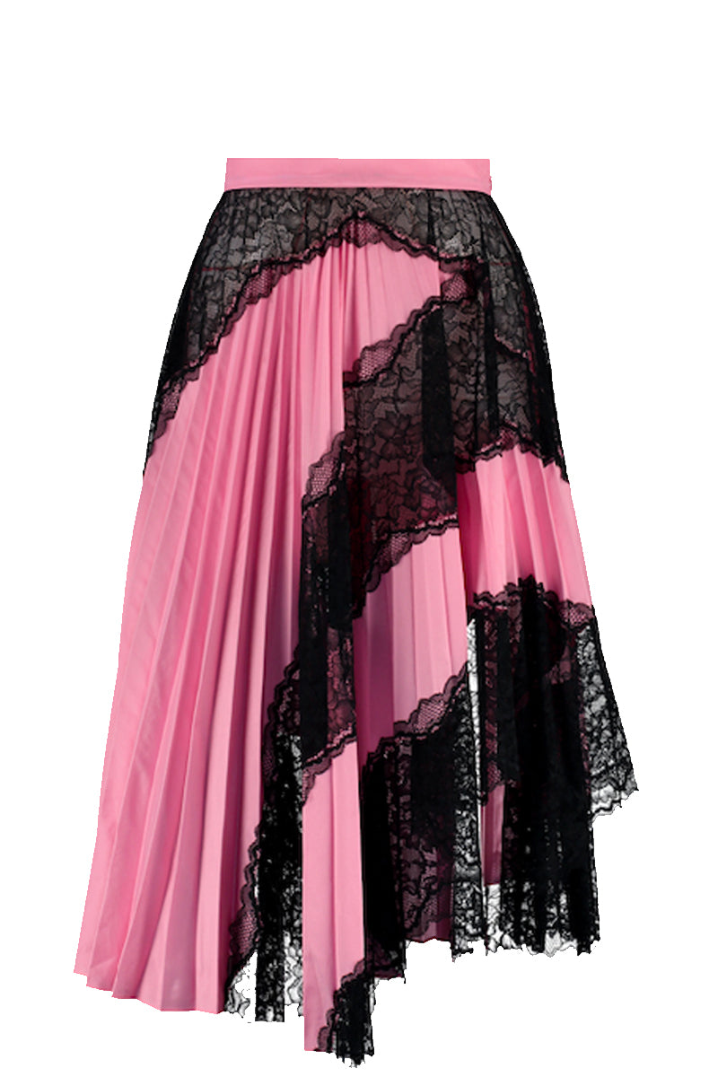 COLLAGED PLEATED SKIRT