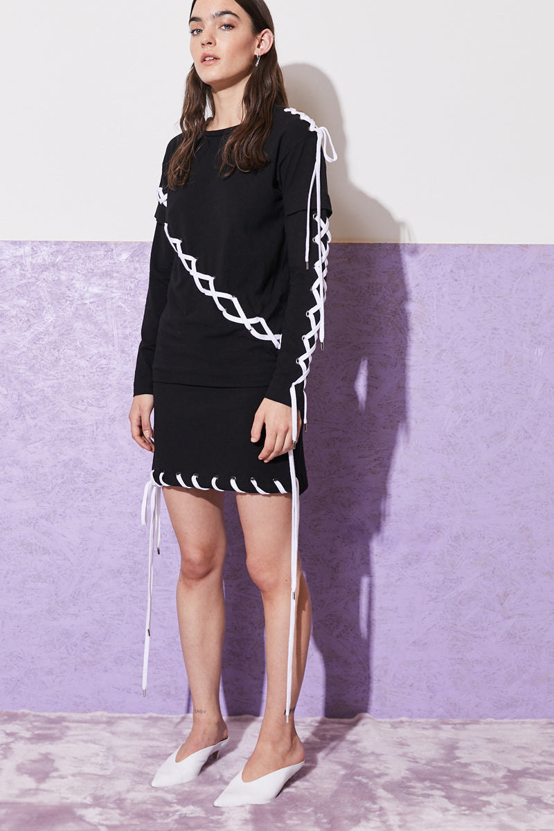 FYODOR GOLAN eyelet t-shirt dress