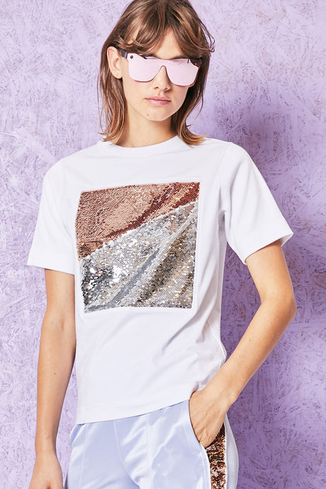 turrell sequin square t-shirt