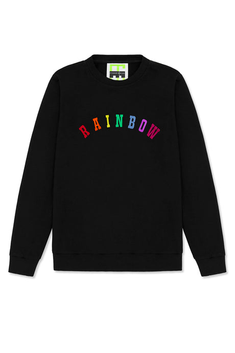 rainbow embroidered sweatshirt