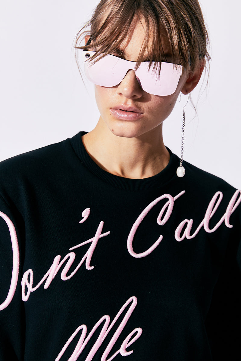 don't call me princess embroidered sweatshirt