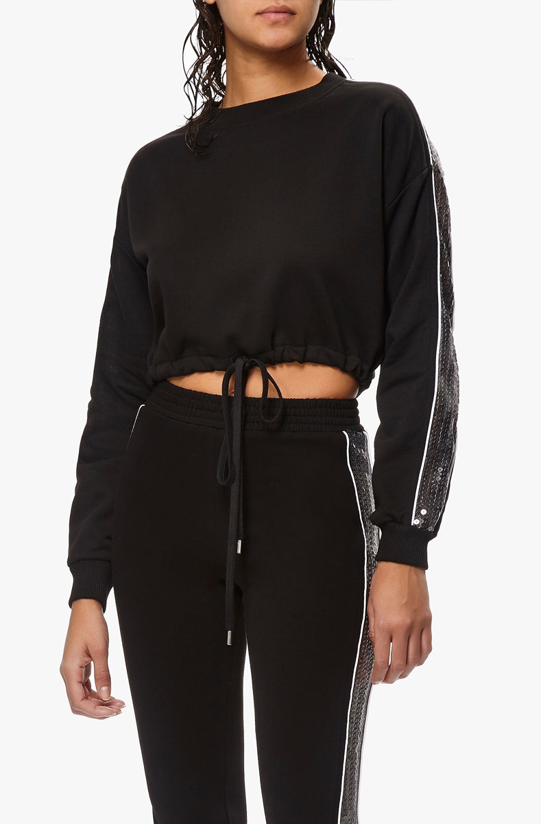 night dive cropped sweatshirt