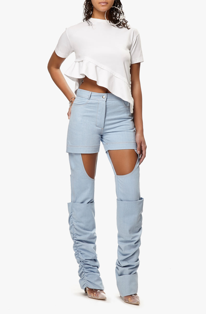 cut-out denim