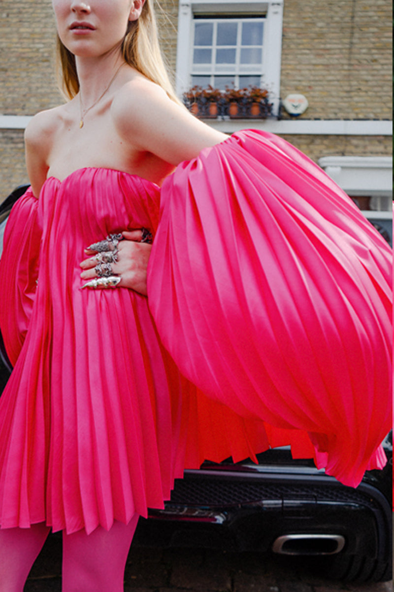 FLAMINGO PLEAT DRESS