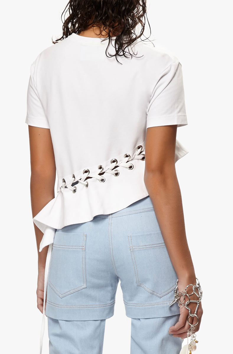 asymetric ruffled t-shirt