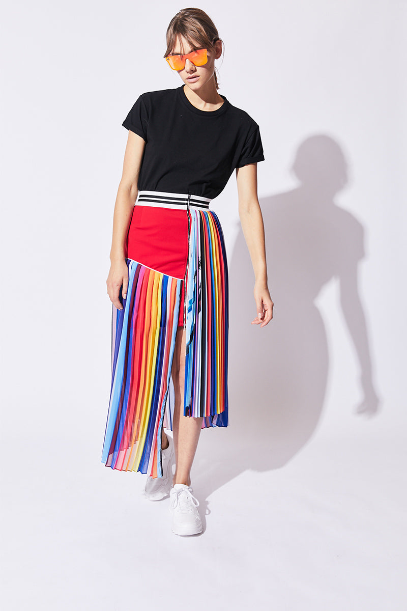 glider pleated skirt