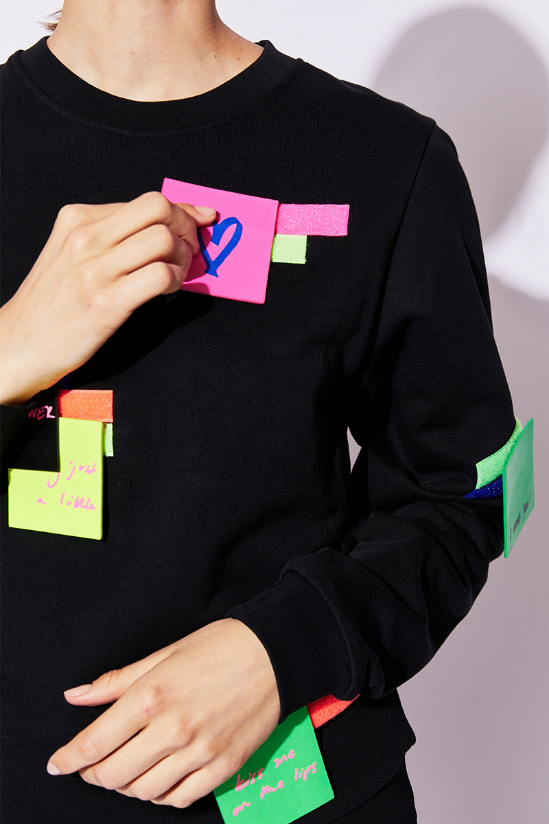 post-it sweatshirt