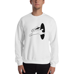 TRIPPING BUNNY SWEATSHIRT - WHITE - LIGHT PINK