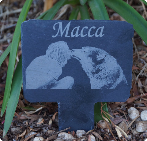 Remembrance Plaque with Stake -  Natural Slate